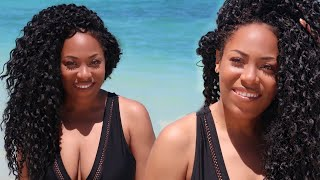 Model Model Valley Wave Egyptian Curl Crochet Hair Review Collab with Shayla Monish Lia La ...