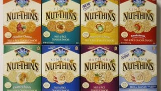 Blue Diamond Nut Thins 8 Kinds - BIG Food Review