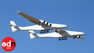 The 'world's largest plane' jets off for the first time