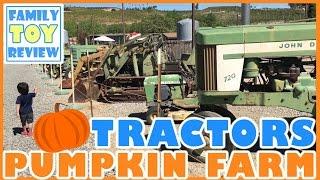 Pumpkins For Kids - Tractors for Children John Deere - Halloween Pumpkin Patch Farm - Tonka Trucks