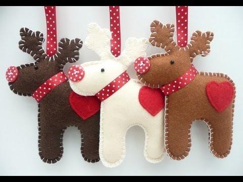 Милые новогодние игрушки из фетра своими руками смотреть в хорошем качестве
