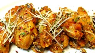 Spicy Garlic Chicken Wings - Hot Wings - Chicken Wing Recipe