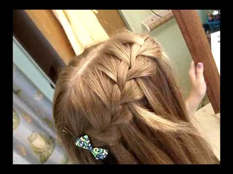 Fun And Easy Hairstyle Tutorial Waterfall French Braid
