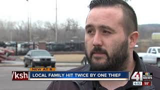 Thief steals car then hits same family's home