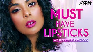 9 Lipsticks For Indian Skin Tone To Suit All Moods Ft. Jovita George | Lipsticks Day Special | Nykaa
