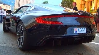 Aston Martin ONE 77 enters Monaco - V12 Coupe Exhaust Sound one-77 Coupe exotic Supercar