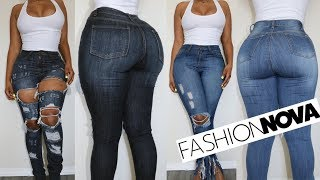 I TRIED FASHION NOVA JEANS | PERFECT JEANS FOR SLIM THICK GIRLS OR FAIL?