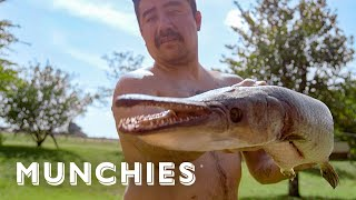 Cooking Alligator Fish Tacos - The Ultimate Taco Tour of Mexico