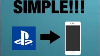 HOW TO GET CLIPS FROM YOUR PS4 TO PHONE!!!