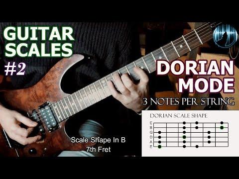 Modes For Guitar #2 | Dorian Mode | 3 Notes Per String Scale