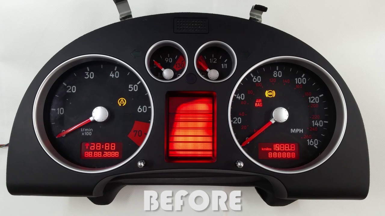 Lcd Repair Audi Tt Mk1 Instrument Cluster Dash Lcd Repair - Youtube