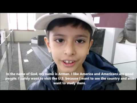 Arman, a 10 year old Iranian boy, speaks about America