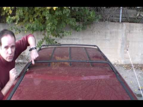 remove roof luggage rack for increased gas mileage - YouTube