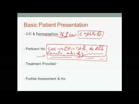 EMS Patient narrative and presentation