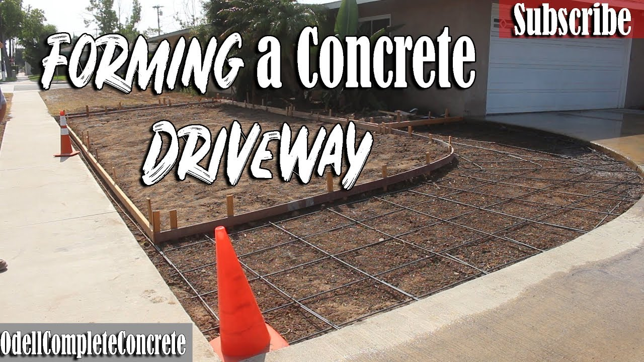 How to Form a Radius Driveway and Mote Strip Curb Part #2