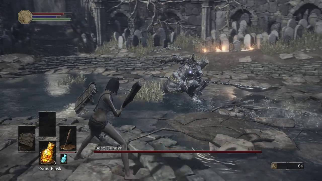 DARK SOULS 3 Iudex Gundyr boss fight with deprived / no burial ...