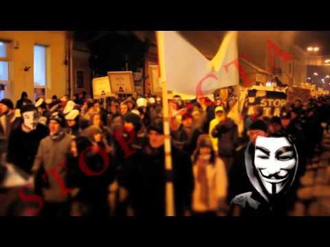 Protest Anti-ACTA in Romania (HD) - 11.02.2012