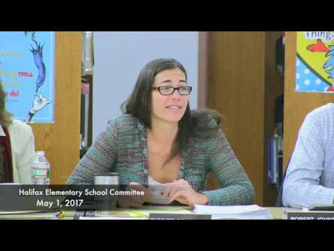 Halifax Elementary School Committee - May 1, 2017  (5/1/17)