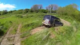 FPV quad Extreme Offroad 4x4 Aerial Video - VERY windy day