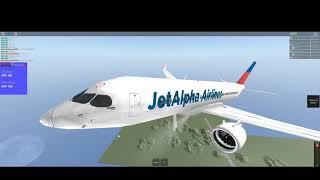 Roblox || Jet Alpha Flight || A220 || Private Flight || First Class