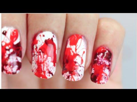 Last Minute BLOOD Splatter Nails