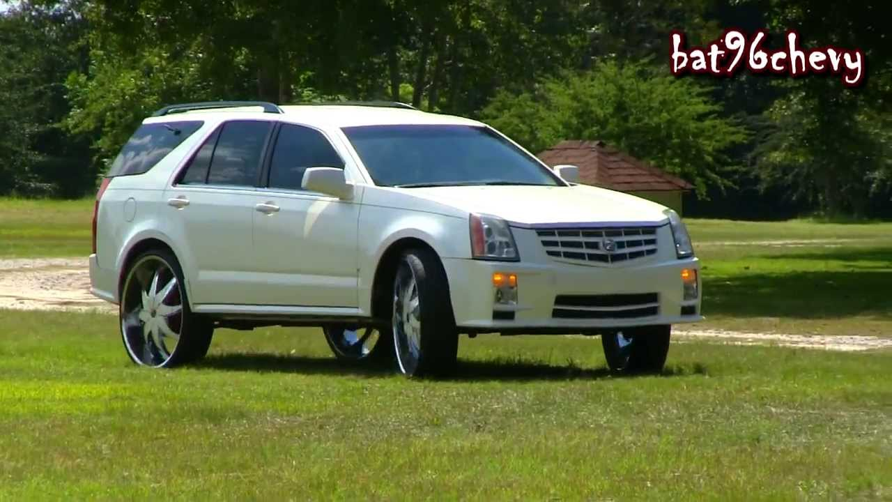 Pearl White Cadillac Srx Truck On 28 Quot Starr Wheels Pt 2