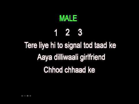 dilliwali girl friend karaoke(ye jawani hai dewani) - hindi karaoke by GMK