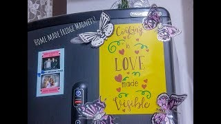 Home made Fridge Magnets! | Make use of waste materials