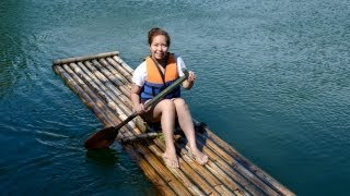 BAMBOO RAFTING IN A 30ft DEEP RIVER! (May 21-22 2013) - saytiocoartillero