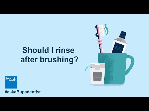 Should you do mouthwash before or after brushing teeth