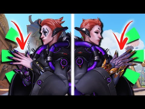 Overwatch - Moira Side by Side Comparison (PTR Nerf & Buff)