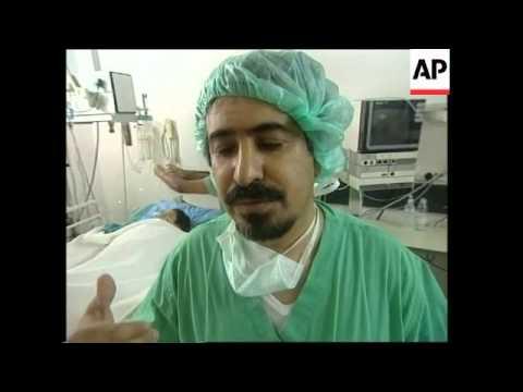 Minister Vists Iraqi Boy After Skin Graft