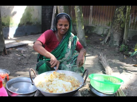 Village Food | Fried rice recipe | Grandmother recipes-122