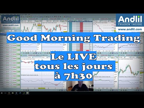 Good Morning Trading Live à 7h30: Analyses Techniques Dax 30, Cac 40, Dow Jones 30, Nasdaq en Bourse