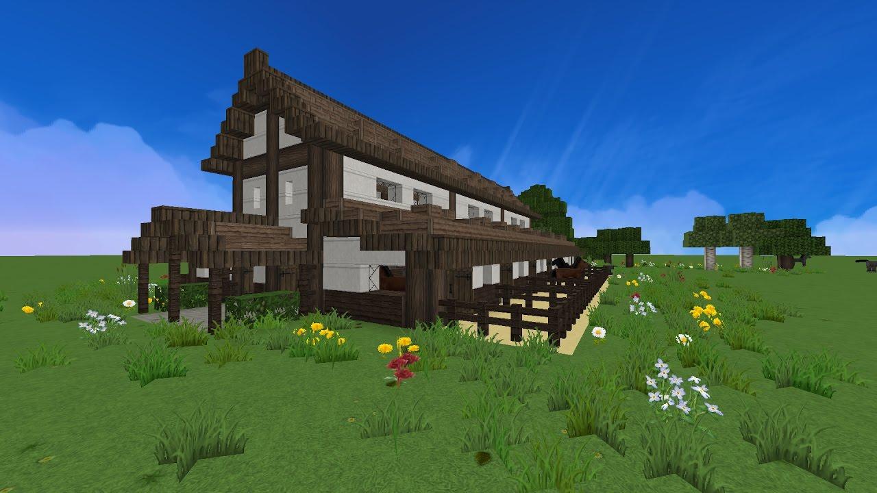 Minecraft bauernhof pferdestall lets build youtube - Minecraft inneneinrichtung ...