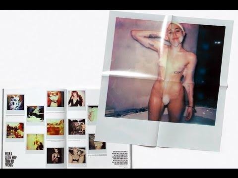 Miley Cyrus posa completamente para revista