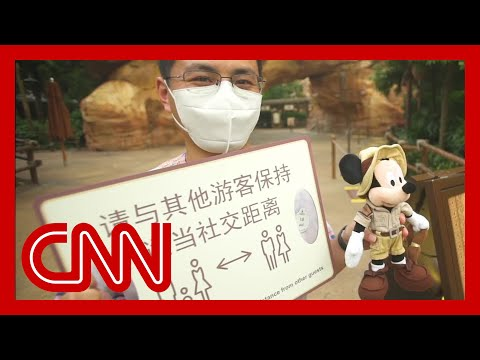 Shanghai Disneyland reopens with social distancing measures in place