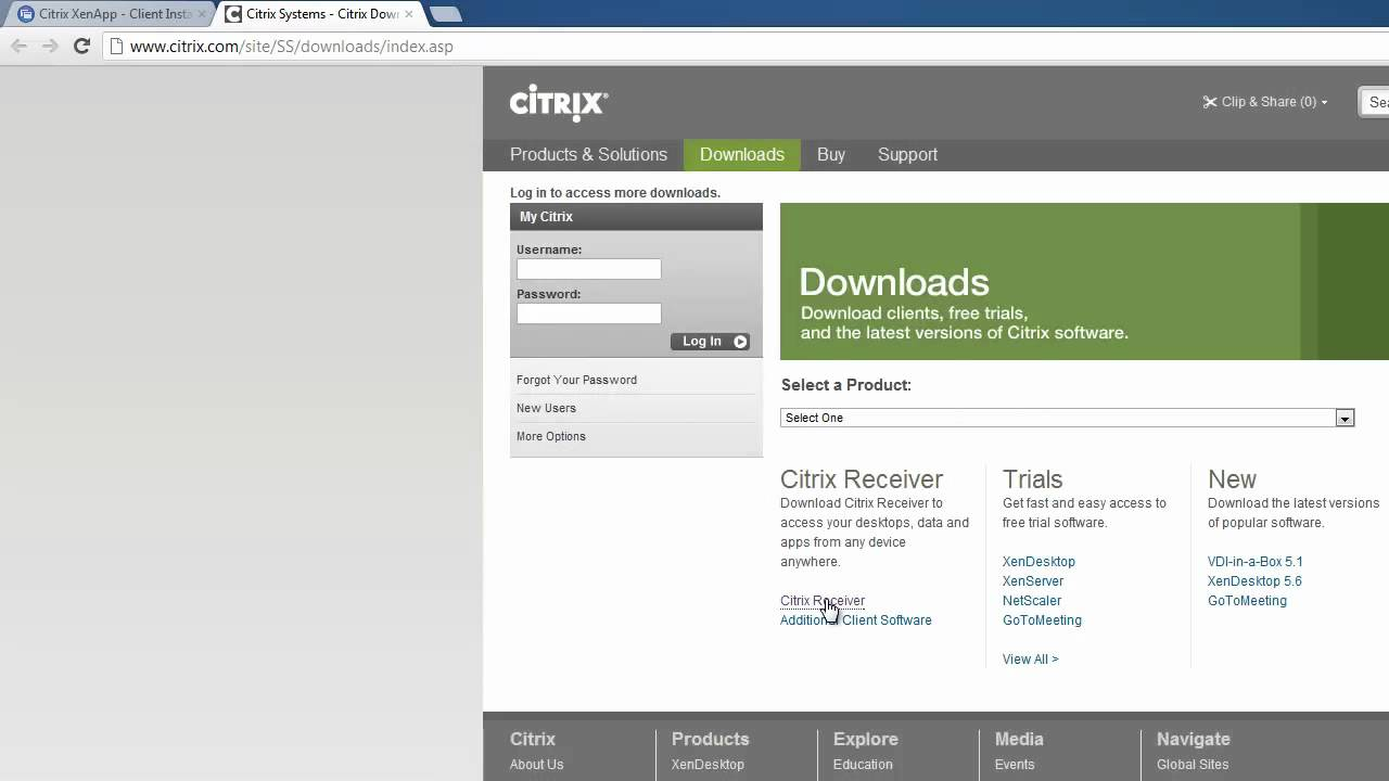 How to Install Citrix Receiver for Windows - YouTube