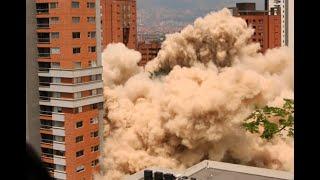 Así fue la implosión del Edificio Mónaco