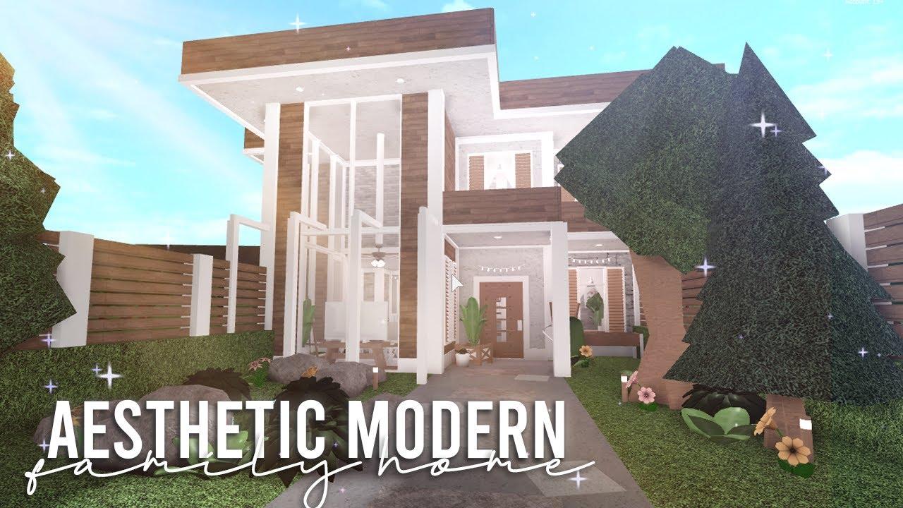 Bloxburg Aesthetic Modern Family Home House Build Youtube