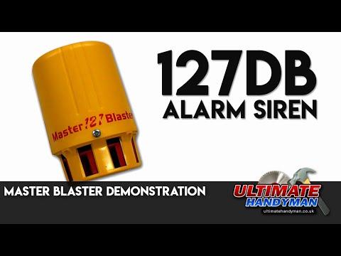 Master Blaster demonstration | 127db alarm Siren