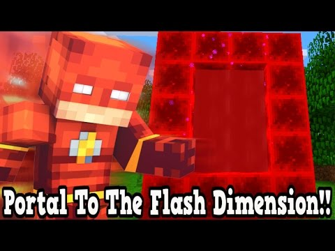 Minecraft How To Make A Portal To The Flash Dimension - The Flash Dimension Showcase!!!