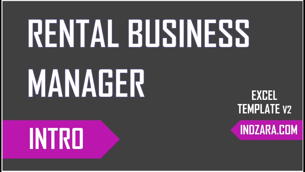 Rental Business Manager - Inventory, Accounting & Invoicing - An ...
