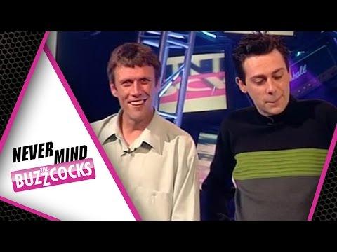 Happy Mondays! Intro's Round Never Mind The Buzzcocks  Bez, Sean Hughes & Bob Mills