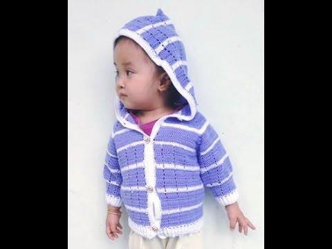 [ Crochet baby  sweater] HƯỚNG DẪN MÓC ÁO KHOÁC  CHO BÉ