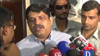 anees qaim khani talks to media