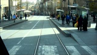 Jerusalem light rail (tram) - Alstom Citadis - Straßenbahn - הרכבת הקלה בירושלים