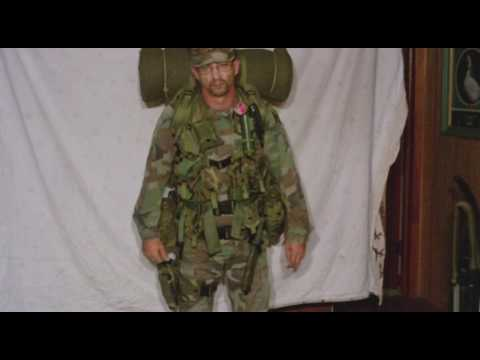 Military Survival Shelter Half Loaded On Alice Pack