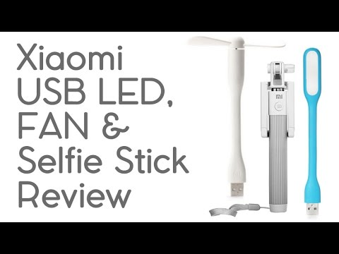 xiaomi selfie stick usb led fan review youtube. Black Bedroom Furniture Sets. Home Design Ideas