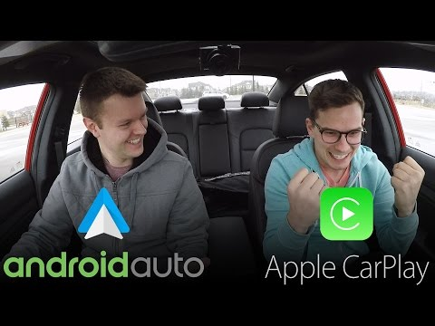 Android Auto vs Apple CarPlay REAL WORLD TEST - Yuri and Jakub Go For a Drive
